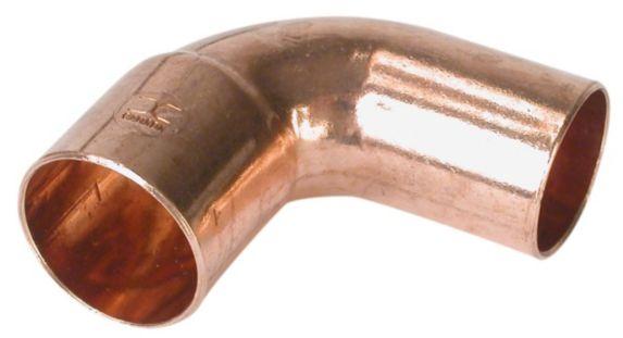 Raccord en coude Bow de 90 degrés, en cuivre, mâle-femelle Image de l'article