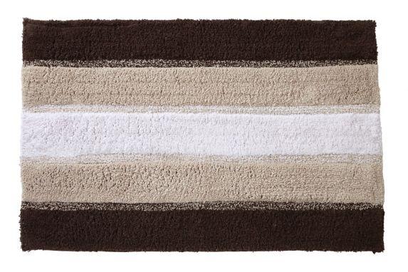 Tapis de bain Texmade, chocolat rayé Image de l'article