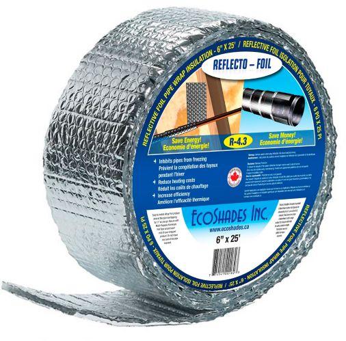 """Isolant aluminium spiralé Reflectix, conduit/tuyau, 6"""" x 25' Image de l'article"""