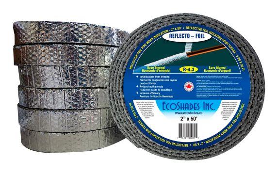 """Isolant en aluminium Reflectix, tuyau d'eau, 2"""" x 50' Image de l'article"""