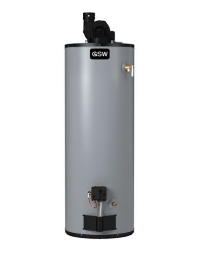 Chauffe-eau au gaz à évent électrique direct GSW, 62 000 BTU, 50 gal US Image de l'article