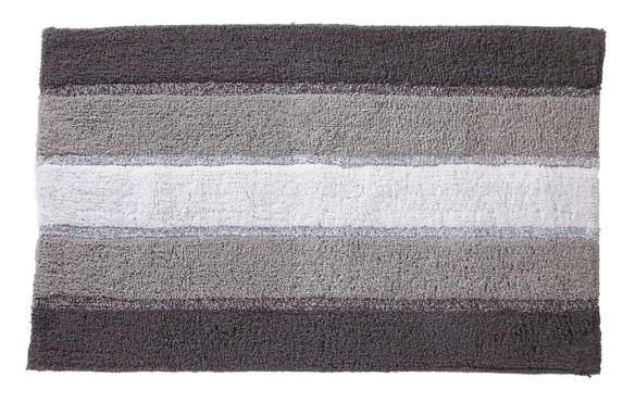 Tapis de bain Texmade, anthracite rayé Image de l'article