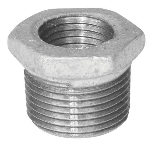 Raccord de tuyau galvanisé Aqua-Dynamic, réducteur hexagonal en fer, 3/4 x 1/2 po Image de l'article