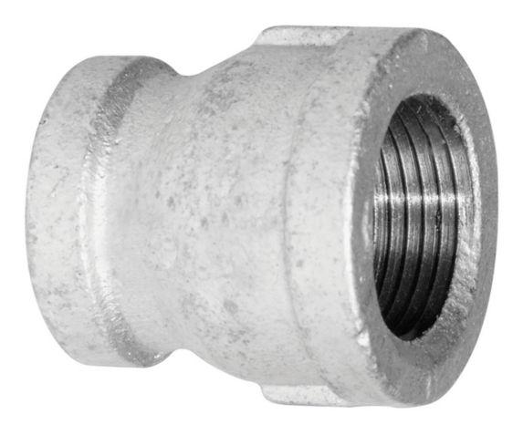 Aqua-Dynamic Galvanized Iron Fitting, Coupling, 3/8 x 1/4-in Product image