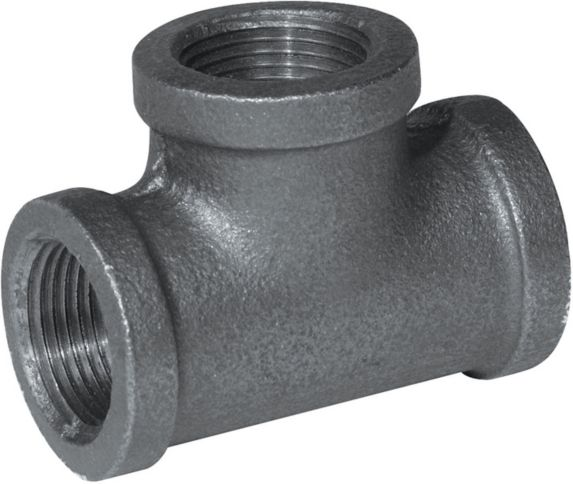 Aqua-Dynamic Black Galvanized Fitting, Tee, 1/2-in Product image