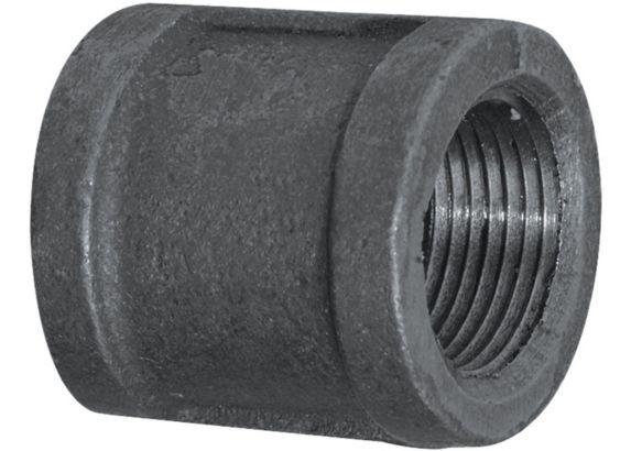 Aqua-Dynamic Black Galvanized Iron Fitting, Coupling, 1-in Product image