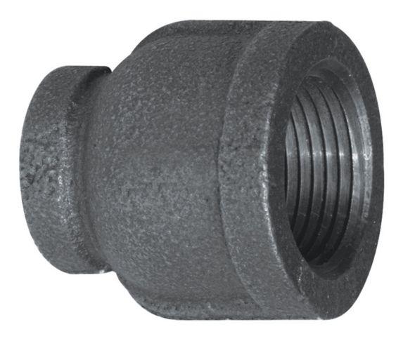 Aqua-Dynamic Black Galvanized Iron Fitting, Coupling, 1/2 x 3/8-in Product image