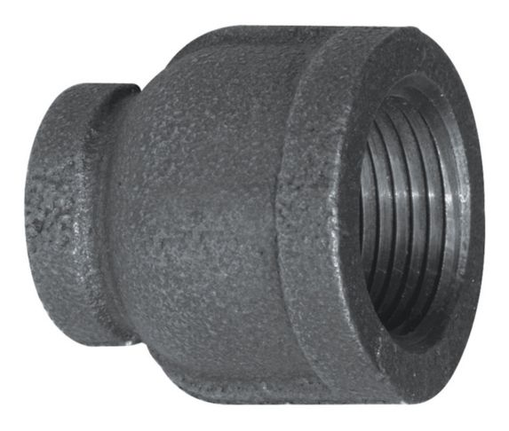 Raccord de tuyau en fer galvanisé Aqua-Dynamic, noir, 1 x 3/4 po Image de l'article