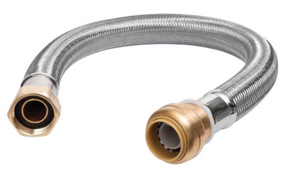 Raccord de chauffe-eau Push N' Connect, 3/4 po x 3/4 po FIP x 12 po Image de l'article