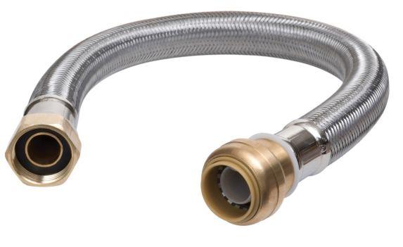 Raccord de chauffe-eau en acier inoxydable Push N' Connect, 1/2 x 3/4 po Image de l'article