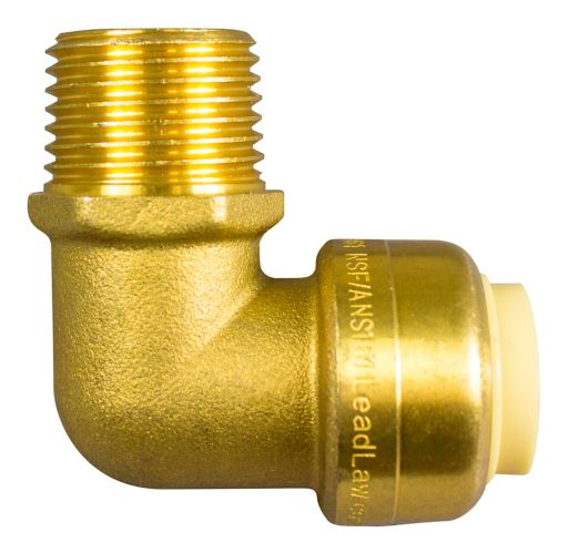Push N' Connect Male Elbow, 1/2-in x 1/2-in Product image