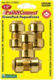 Waterline Push N' Connect Coupling Set, 1/2-in, 4-pk   Waterlinenull