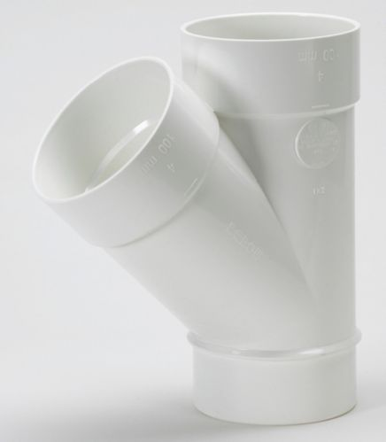 Raccord en Y Bow en PVC-C pour tuyau d'égout, 4 po Image de l'article
