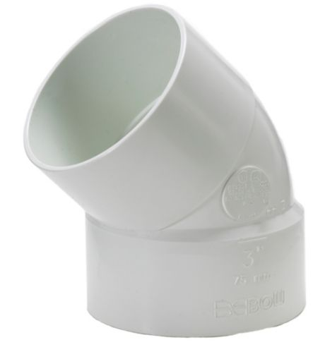 Bow PVC 45 Degree Sewer Elbow Product image