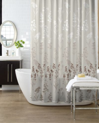 Bouquet Taupe Shower Curtain Product image