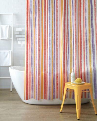 Brushstroke Stripe Shower Curtain, Multi-Colour Product image