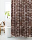 Rideau de douche à mosaïque de formes géométriques | Cleansenull