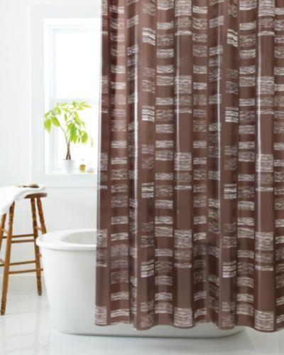 Rideau de douche à mosaïque de formes géométriques Image de l'article