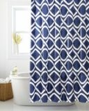 Cleanse Geo Waves Shower Curtain, Blue   Cleansenull