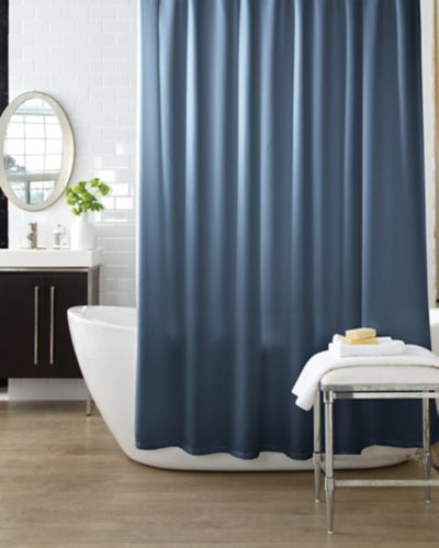 Cleanse Solid Shower Curtain, Indigo Product image