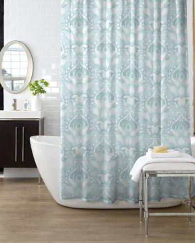 Rideau de douche Ikat à effet d'aquarelle Image de l'article