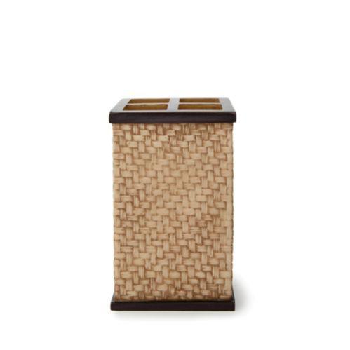 Bamboo Basket Weave Toothbrush Holder Product image