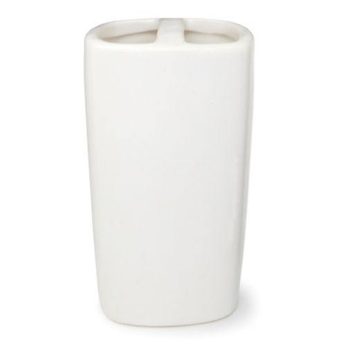 Ceramic Toothbrush Holder, White Product image