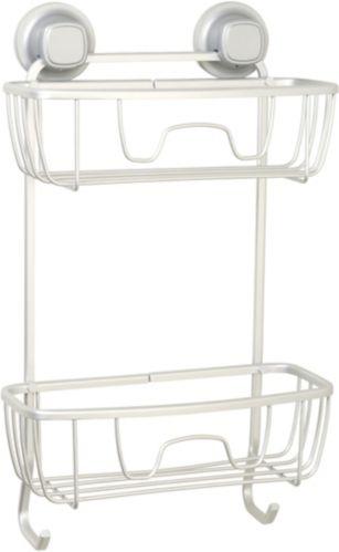 Range-accessoires de douche à ventouses en aluminium For Living, 2 tablettes Image de l'article
