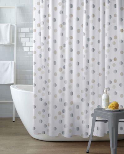 Rideau de douche CANVAS, motif de pois argentés Image de l'article