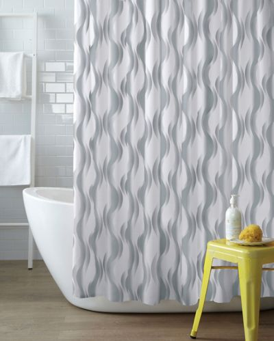 Metallic Waves Shower Curtain Product image
