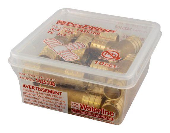 Waterline PEX Tee, 3/4-in, 10-pk Product image