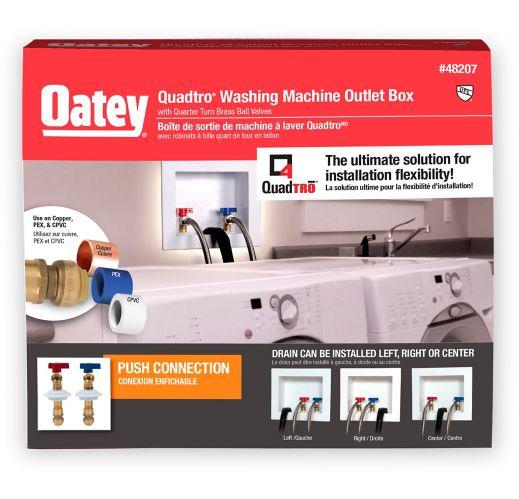 Boîte de sortie de machine à laver Oatey Quadtro, 1/4 Image de l'article
