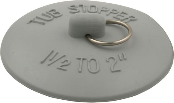 Plumbshop Long Life Tub Stopper, White, 1-1/2 to 2-in Product image