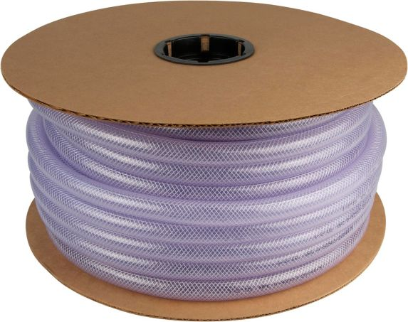 Tube en vinyle tressé précoupé, 1/2 po DI x 0,75 po DE Image de l'article