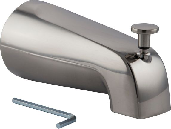 "Plumbshop Bath/Tub Spout 5/8"" OD, Brushed Nickel Product image"