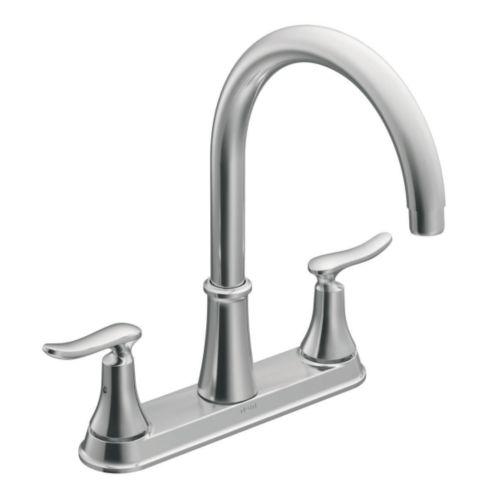 Moen Quinn™ 2-Handle High-Arc Kitchen Faucet Product image