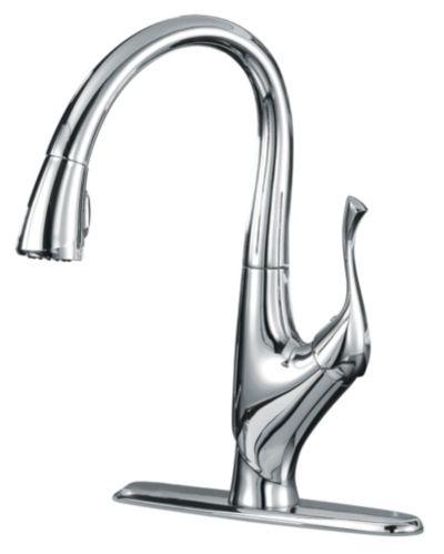 Danze Emilia Pull-Down Kitchen Faucet, Chrome Product image