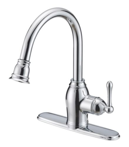 Danze Sheridan 1-Handle Pull Down Kitchen Faucet, Chrome Product image