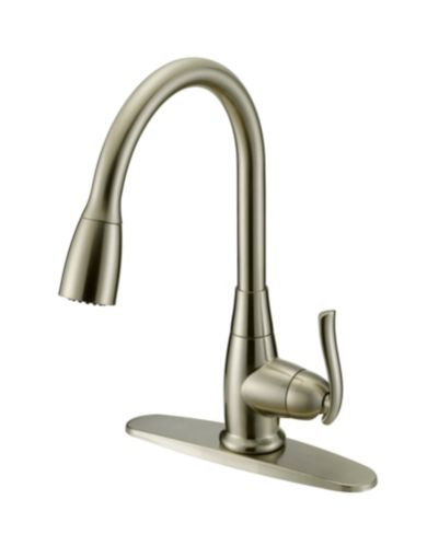 Danze Terrazo Pull Down Kitchen Faucet, Brushed Nickel Product image