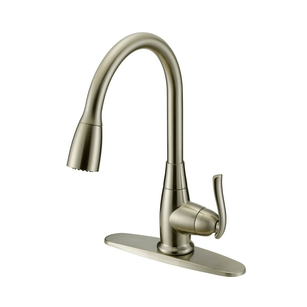 Danze Terrazo Pull Down Kitchen Faucet, Brushed Nickel