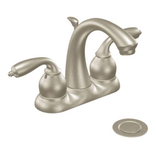 Robinet de lavabo Moen Bayhill, nickel Image de l'article
