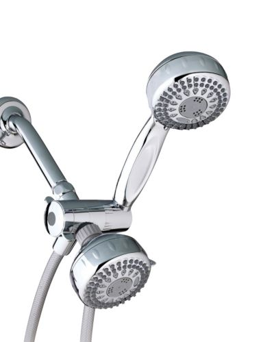 Waterpik 5-Setting 2-in-1 Dual Shower Head, Chrome Product image