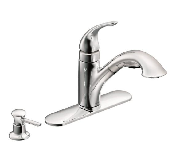 Moen Caprillo Pull-Out Kitchen Faucet, Chrome Product image