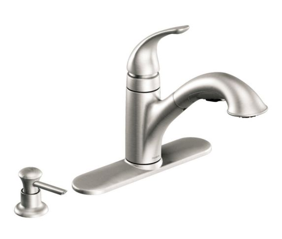 Moen Caprillo Stainless Steel Pull-Out Kitchen Faucet Product image