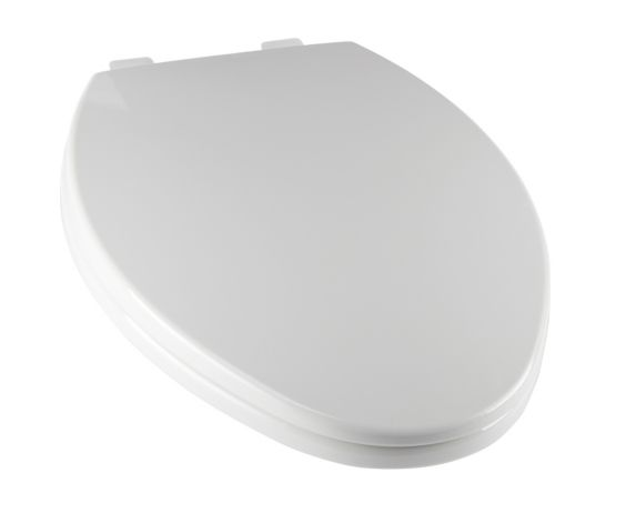 Ginsey Slow Close Elongated Toilet Seat, White Product image
