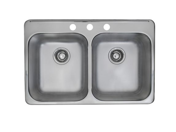 Kindred Double Bowl Kitchen Sink with Spillway Product image