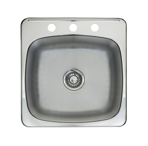 Kindred Single Bowl Kitchen Sink with Ledge Product image