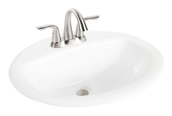 Foremost Olivia Oval Drop Sink, White Product image