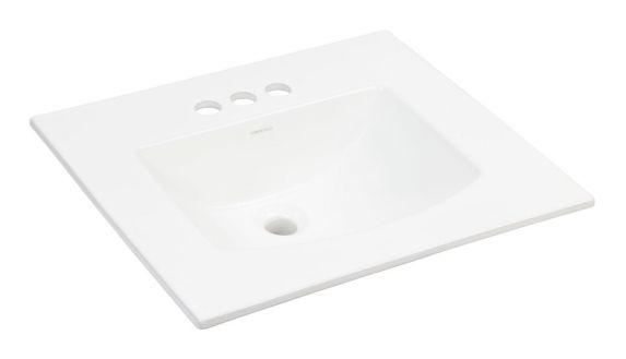 Lavabo à encastrer Foremost EZ-Fix, rectangulaire, blanc Image de l'article