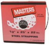 MASTERS Strapping, Nylon Coated 22 Gauge, 25-ft x 1/2-in | Mastersnull